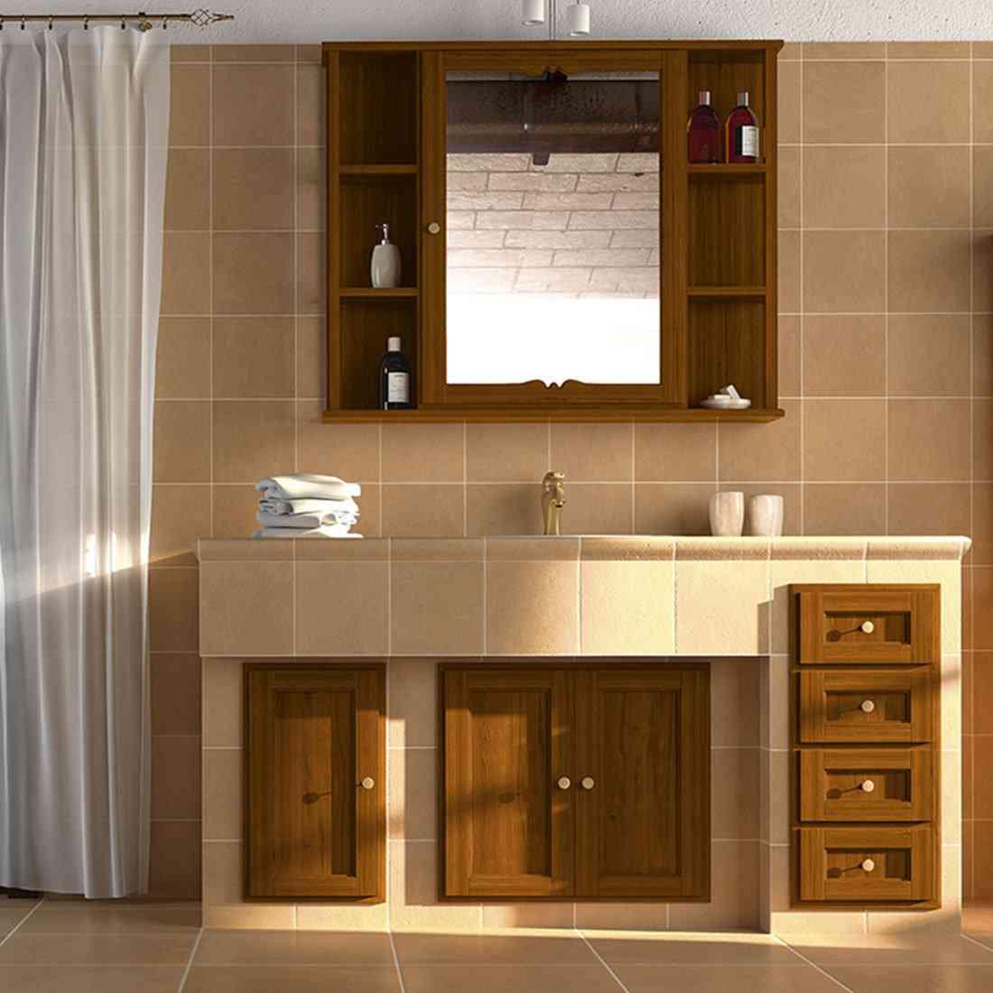Arredo bagno bagni torino bagno arredo sumisura for Mobile bagno rustico moderno