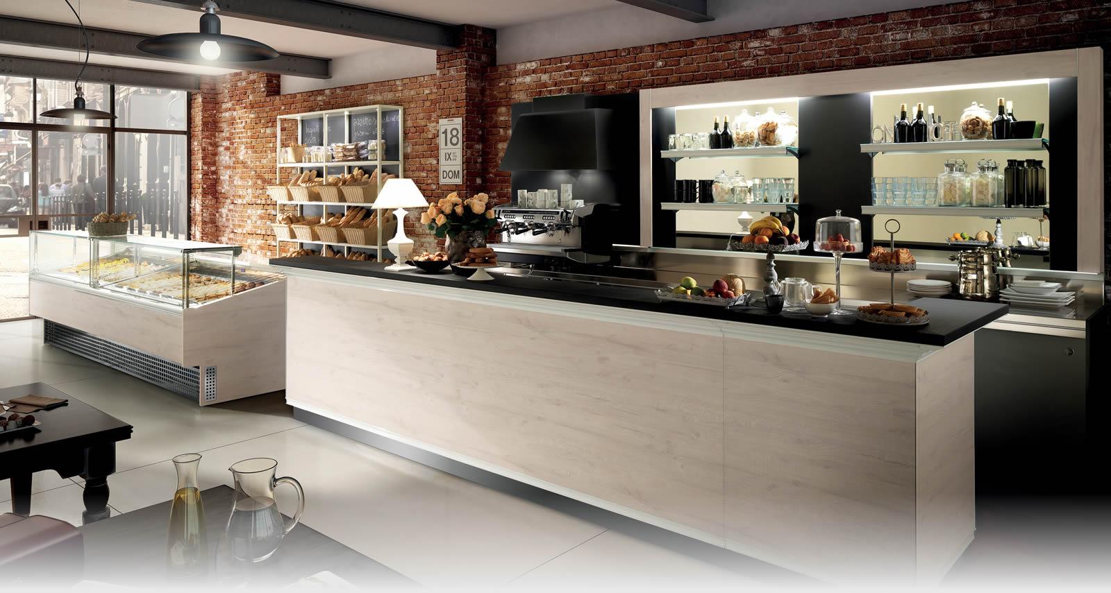 Arredo bar e negozi torino arredamenti sumisura for Arredi bar usati