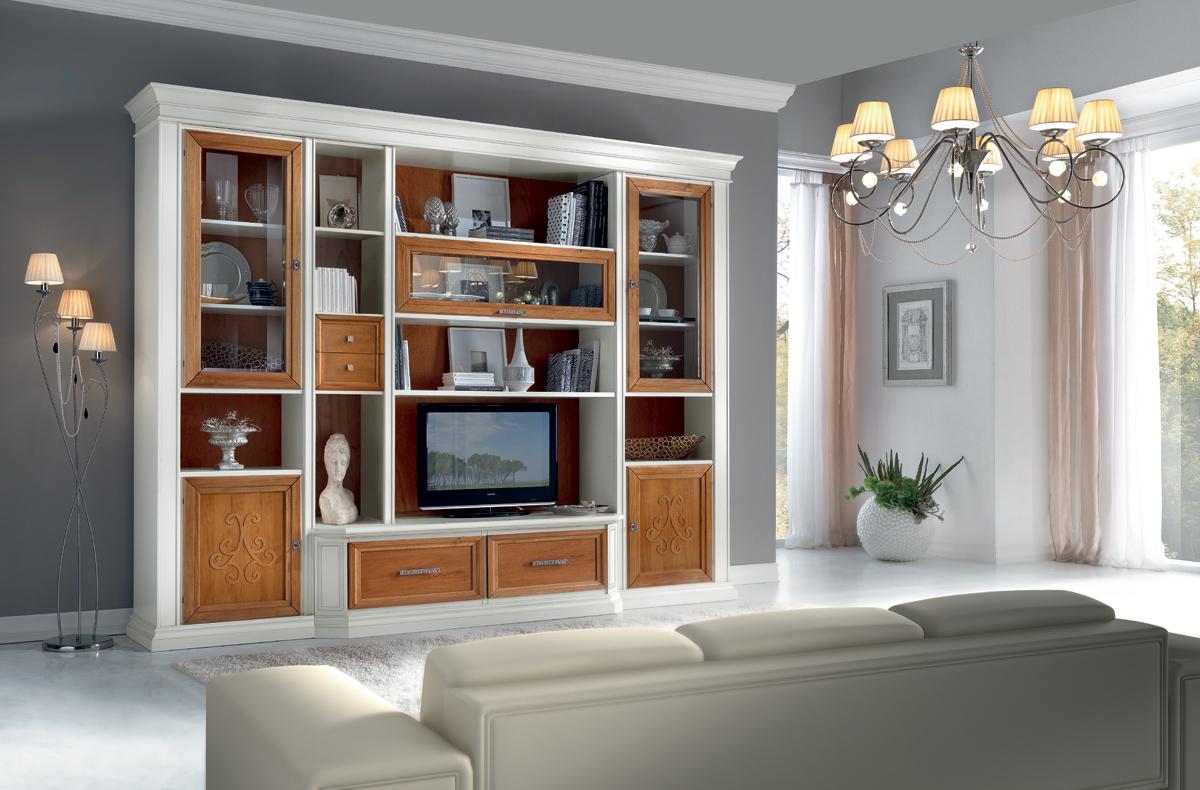 Soggiorni in stile classico torino sumisura fabbrica for Fabbrica mobili torino
