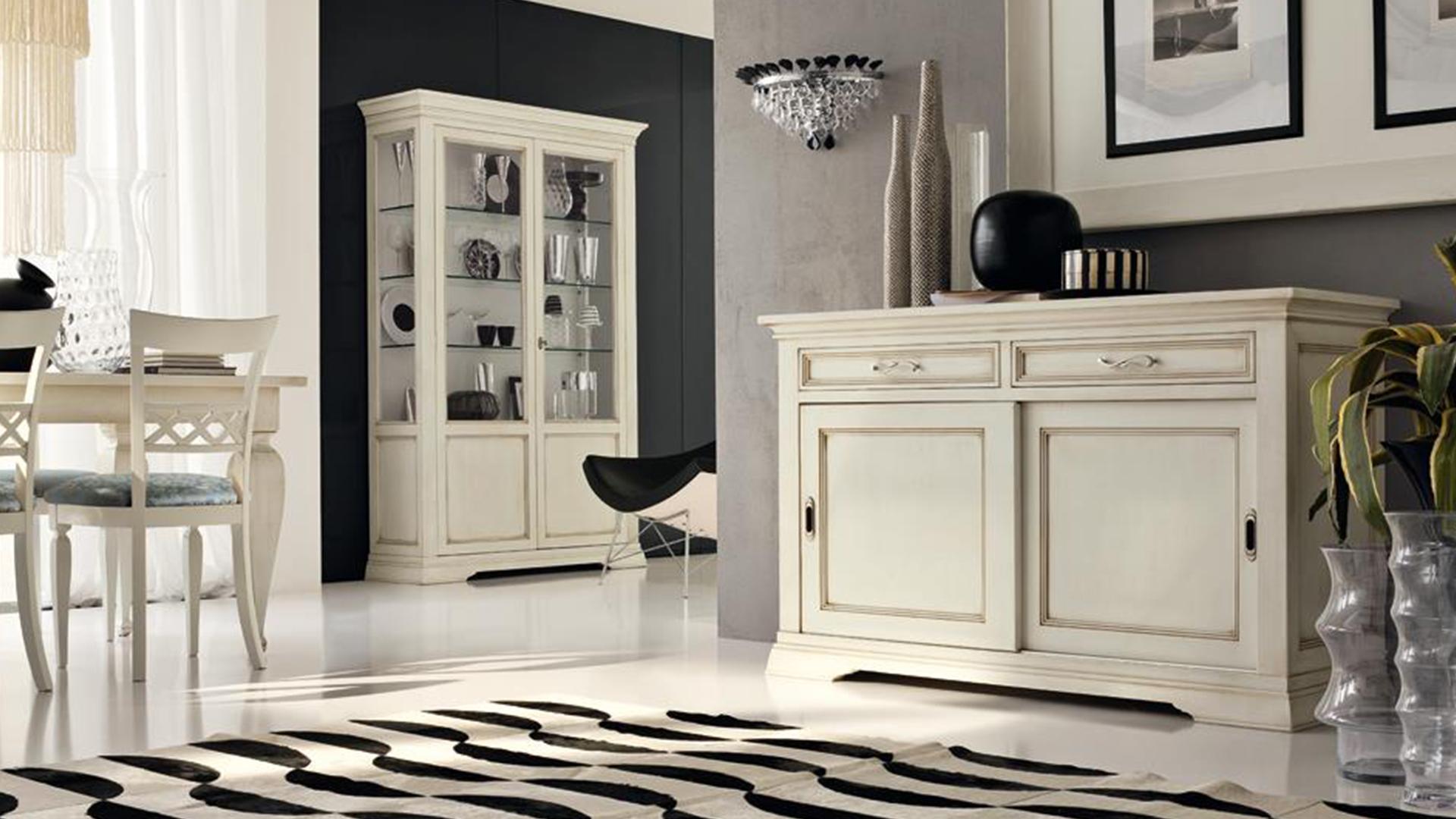 Soggiorni in stile classico torino sumisura fabbrica for Mobili salone classici