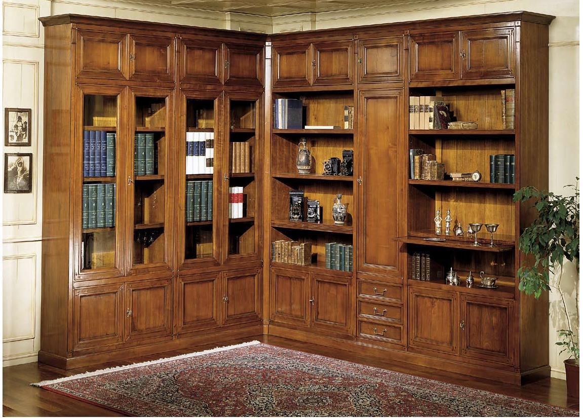Soggiorni in stile classico torino sumisura fabbrica for Mobili librerie torino