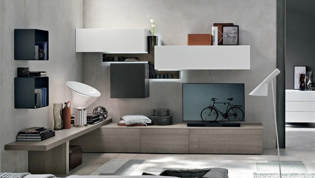 termoarredo soggiorno moderno: mobile soggiorno sospeso ellex ... - Termoarredo Soggiorno Torino