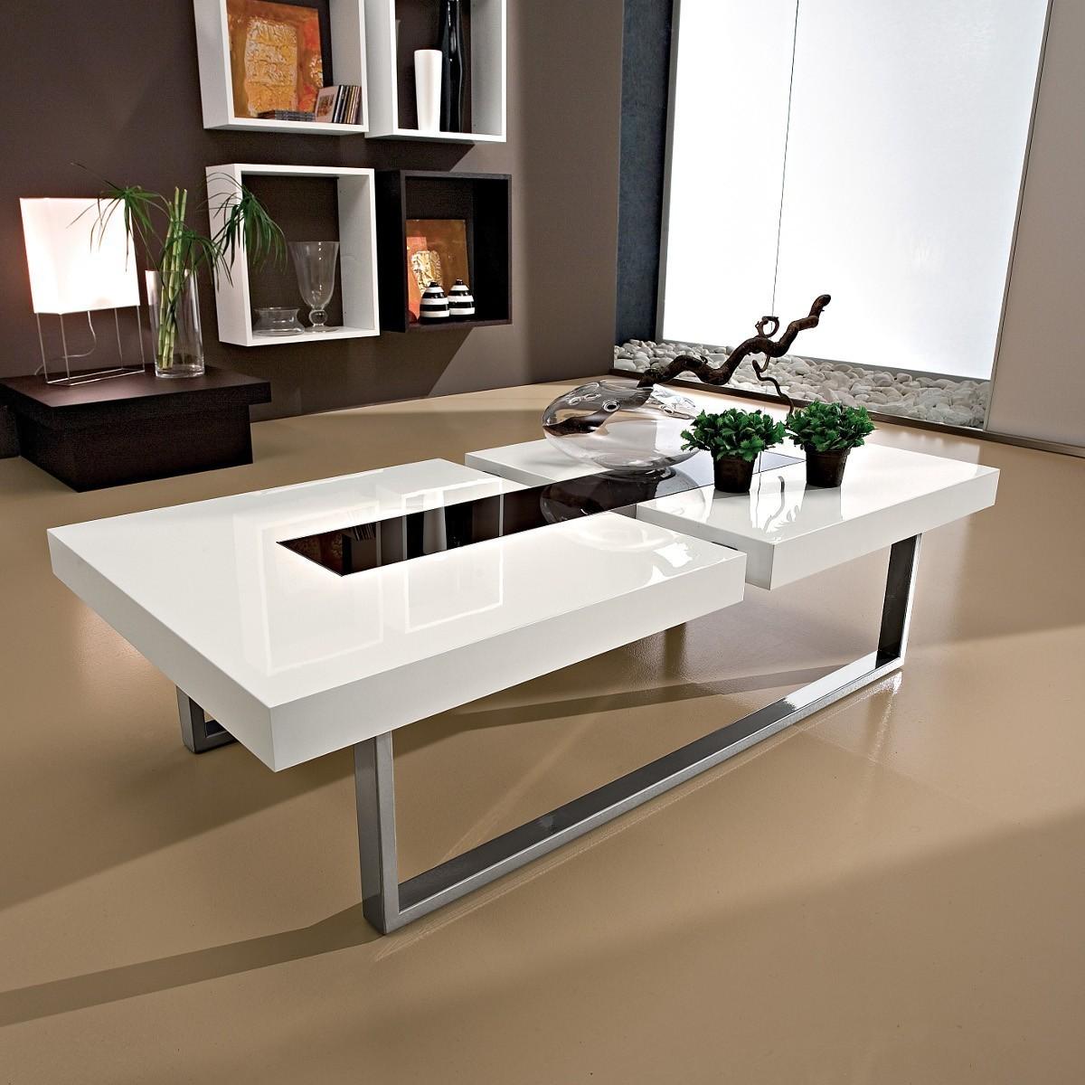 Tavolini bassi salotto moderni tavolini da soggiorno in vetro - Epierre